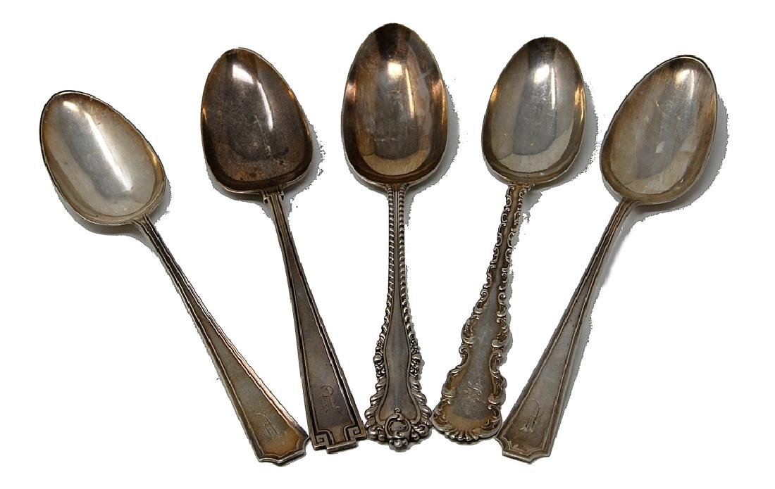 5 Sterling Silver Serving Spoons Whiting