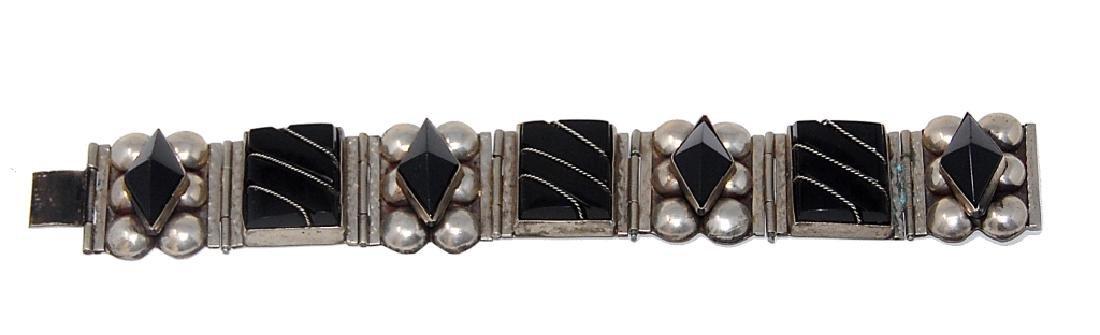 Mexican Sterling Silver Taxco Cut Bracelet