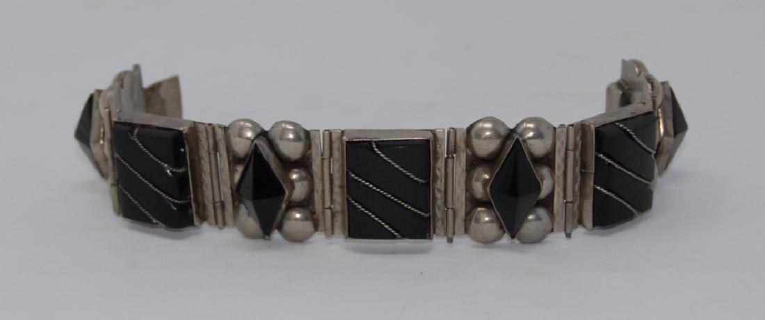 Mexican Sterling Silver Taxco Cut Bracelet - 2