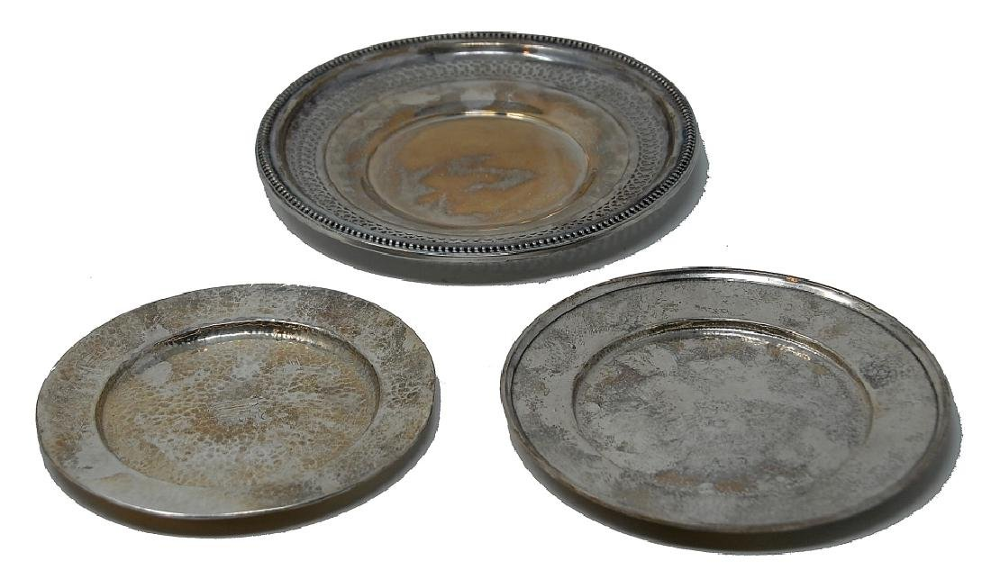 3 Sterling Silver Plates