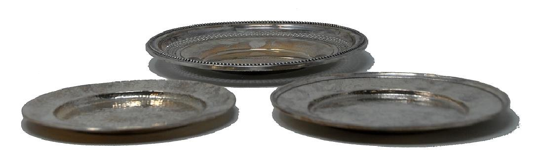 3 Sterling Silver Plates - 2