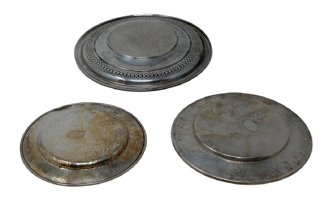 3 Sterling Silver Plates - 3