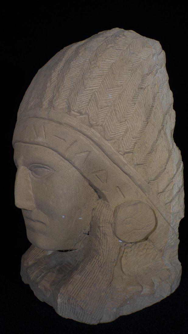 Ernst Popeye Reed Indian Chief Folk Art Sculpture