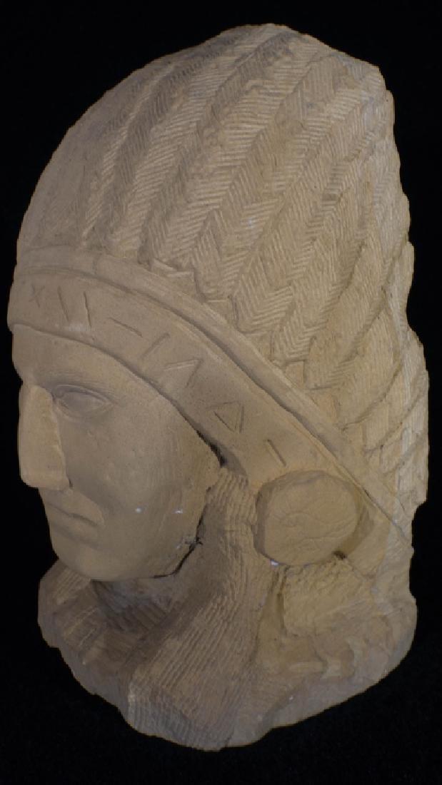 Ernst Popeye Reed Indian Chief Folk Art Sculpture - 2