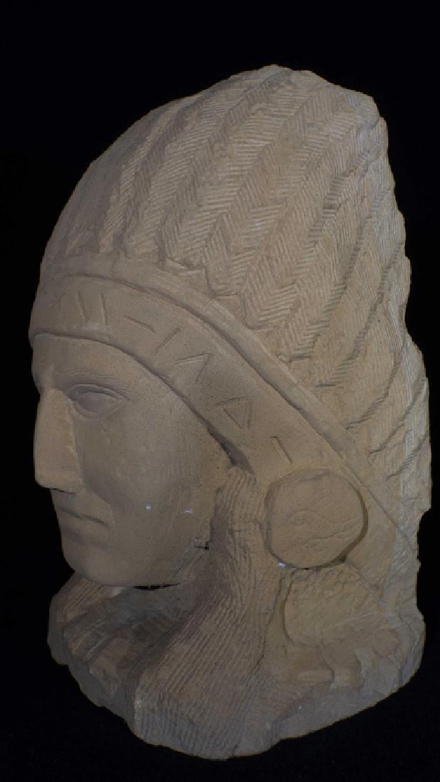 Ernst Popeye Reed Indian Chief Folk Art Sculpture - 3