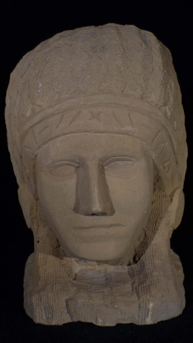 Ernst Popeye Reed Indian Chief Folk Art Sculpture - 4