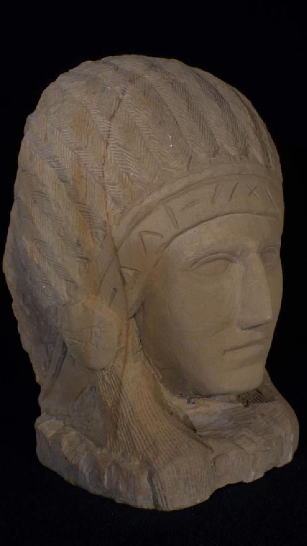 Ernst Popeye Reed Indian Chief Folk Art Sculpture - 5