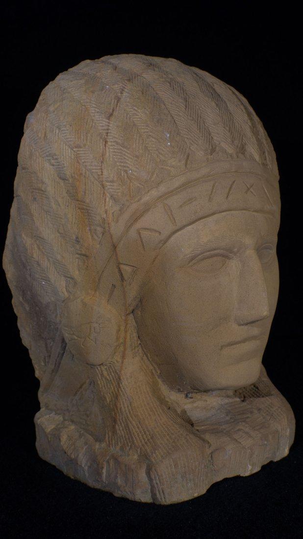Ernst Popeye Reed Indian Chief Folk Art Sculpture - 6