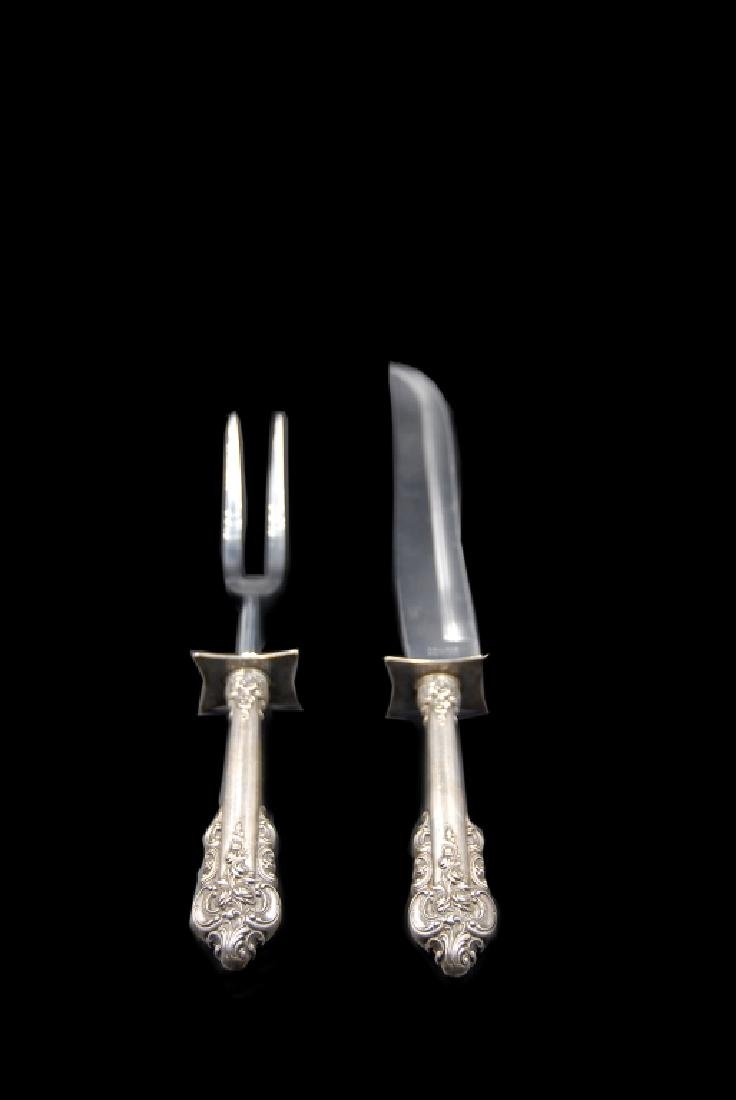 Wallace Grande Baroque Sterling Silver Carving Set