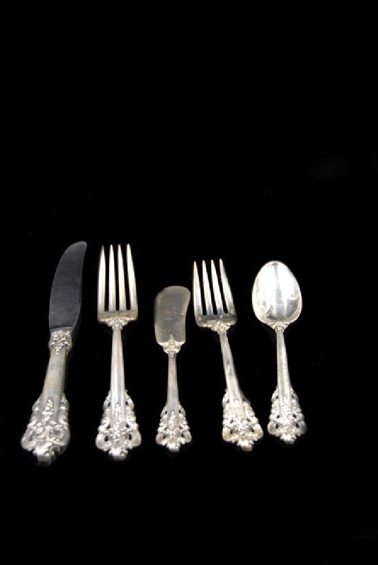 Wallace Grande Baroque Sterling Flatware 5 Pieces