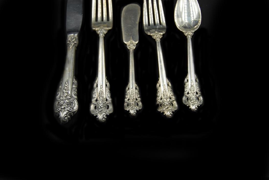 Wallace Grande Baroque Sterling Flatware 5 Pieces - 2