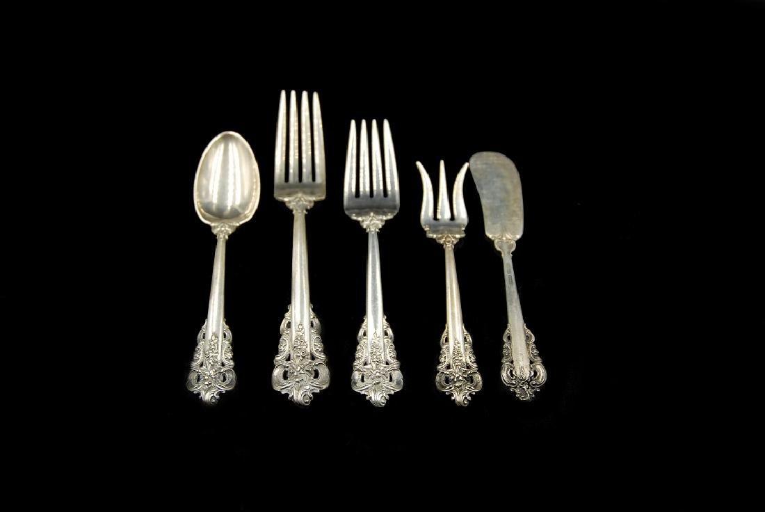 Wallace Grande Baroque Sterling Flatware 5 Pieces - 4