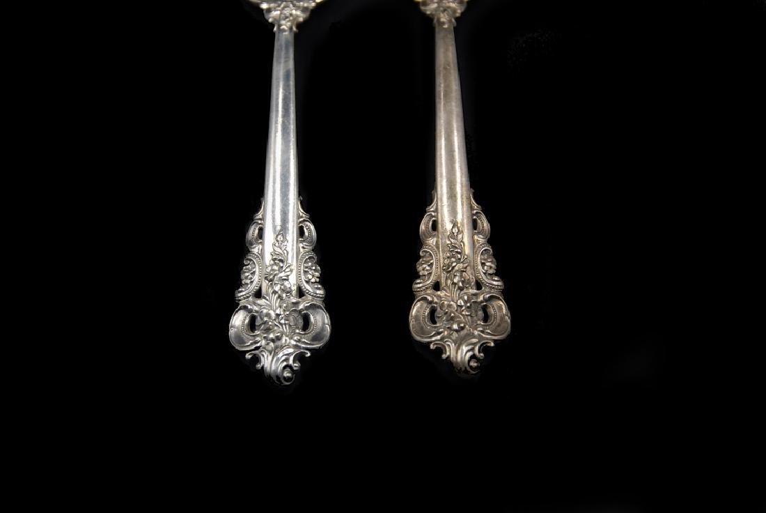 Wallace Grande Baroque Sterling Silver Serving Spoons - 2