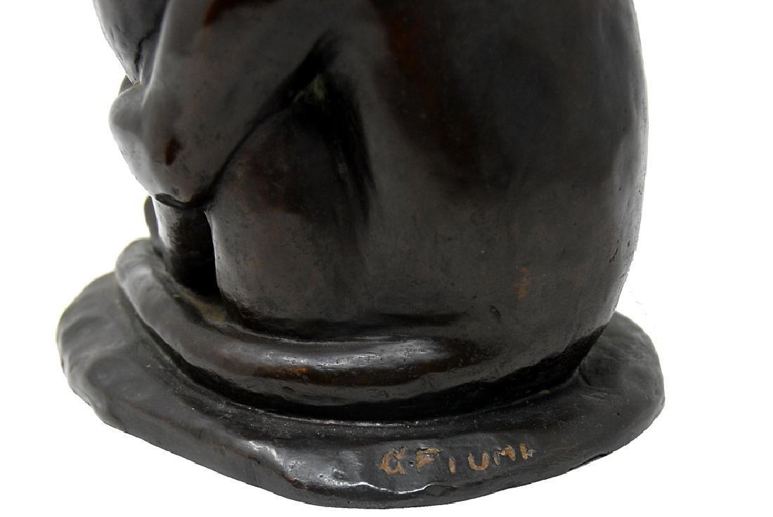 G. Fiumk Bronze Sculpture - 6