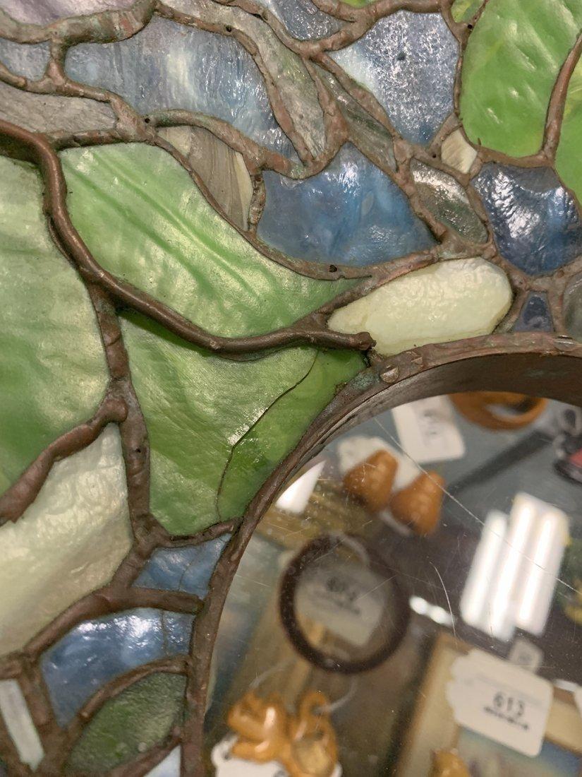 Signed Tiffany Studios Bronze Leaded Glass Floor Lamp - 3