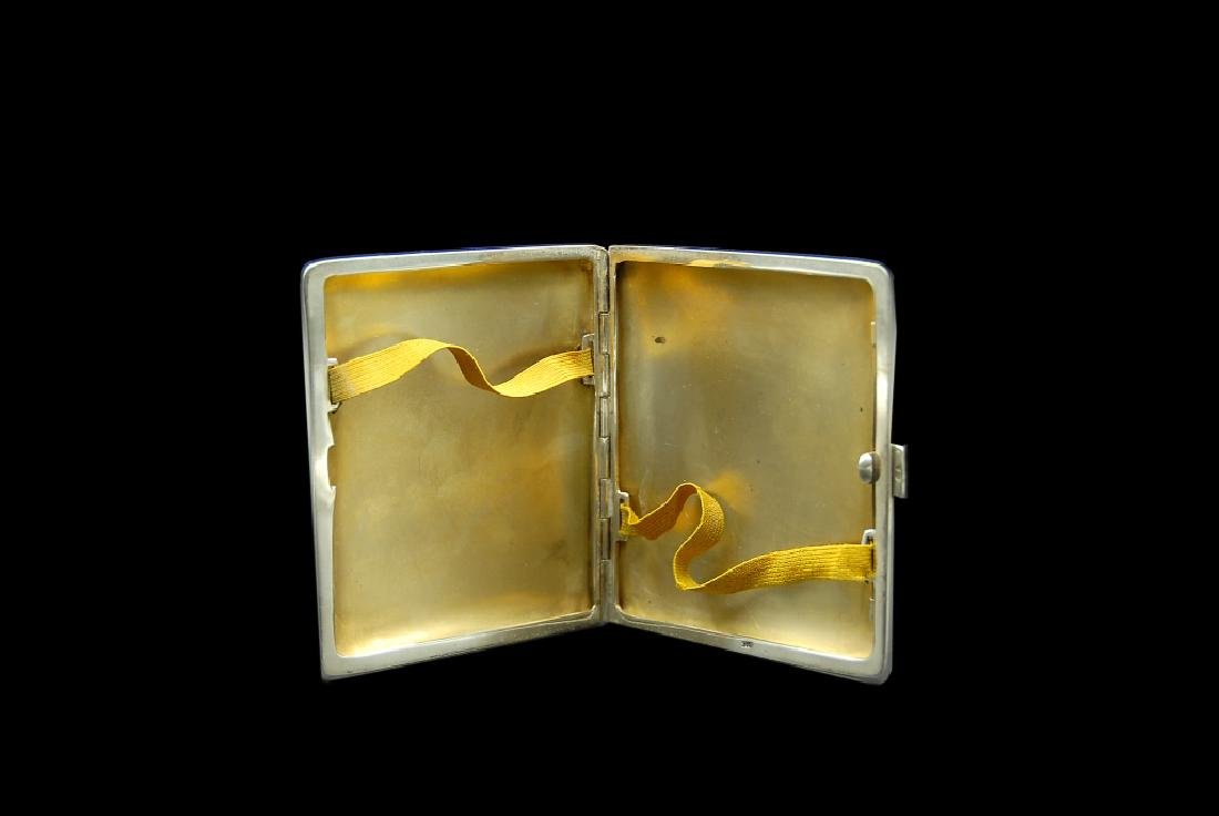 Enameled 935 Silver Swedish Cigarette Case With - 4
