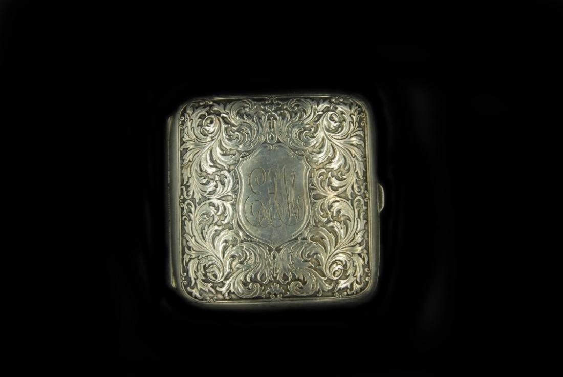 Sterling Silver Cigarette Case - 2