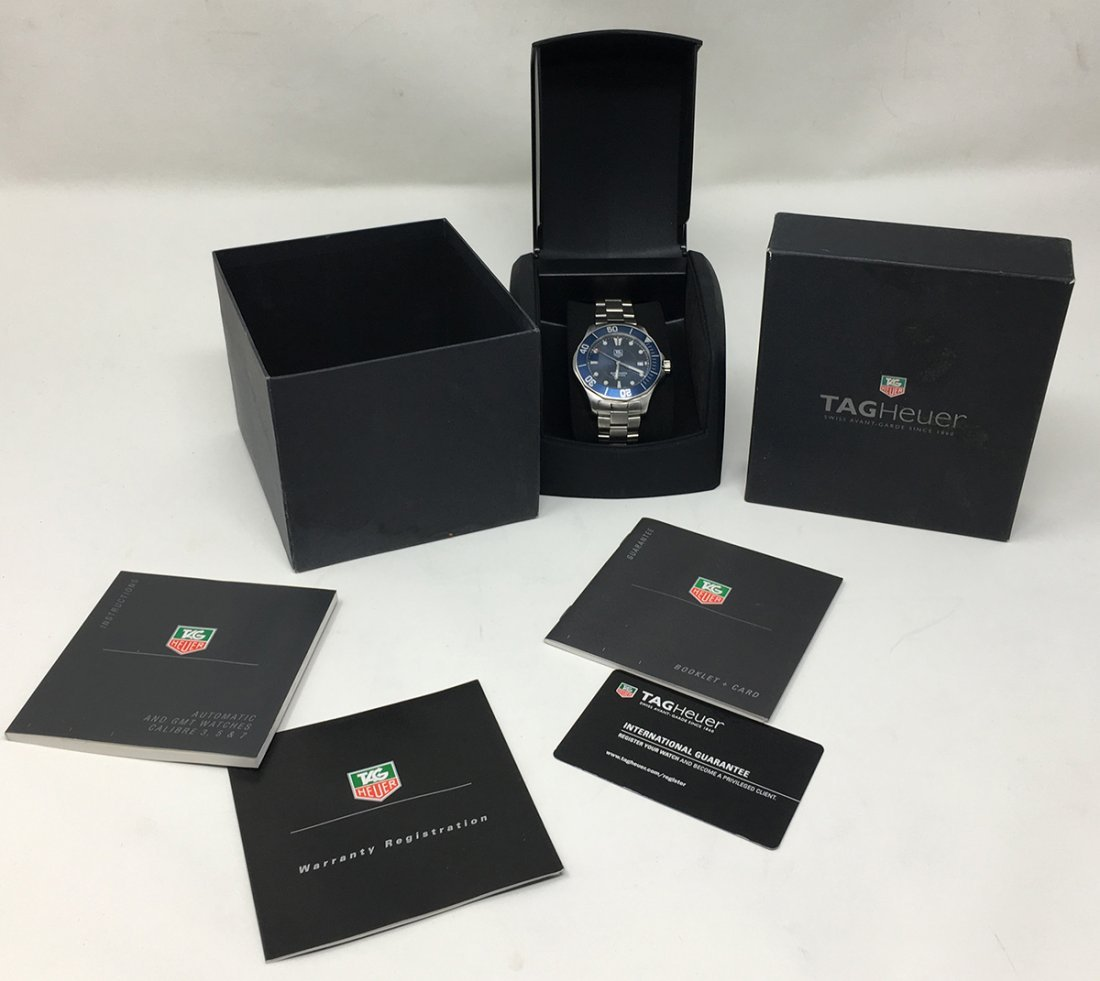 Tag Huer Wristwatch Automatic Blue Dial