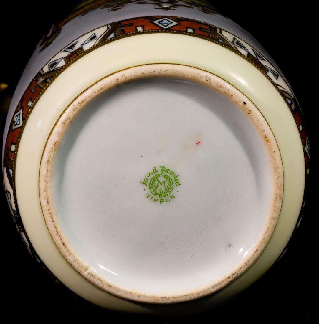 """Hand Painted Nippon Farm Scene Vase 10"""" - 3"""