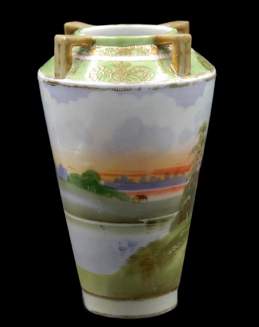 Hand Painted Nippon Scenic Vase