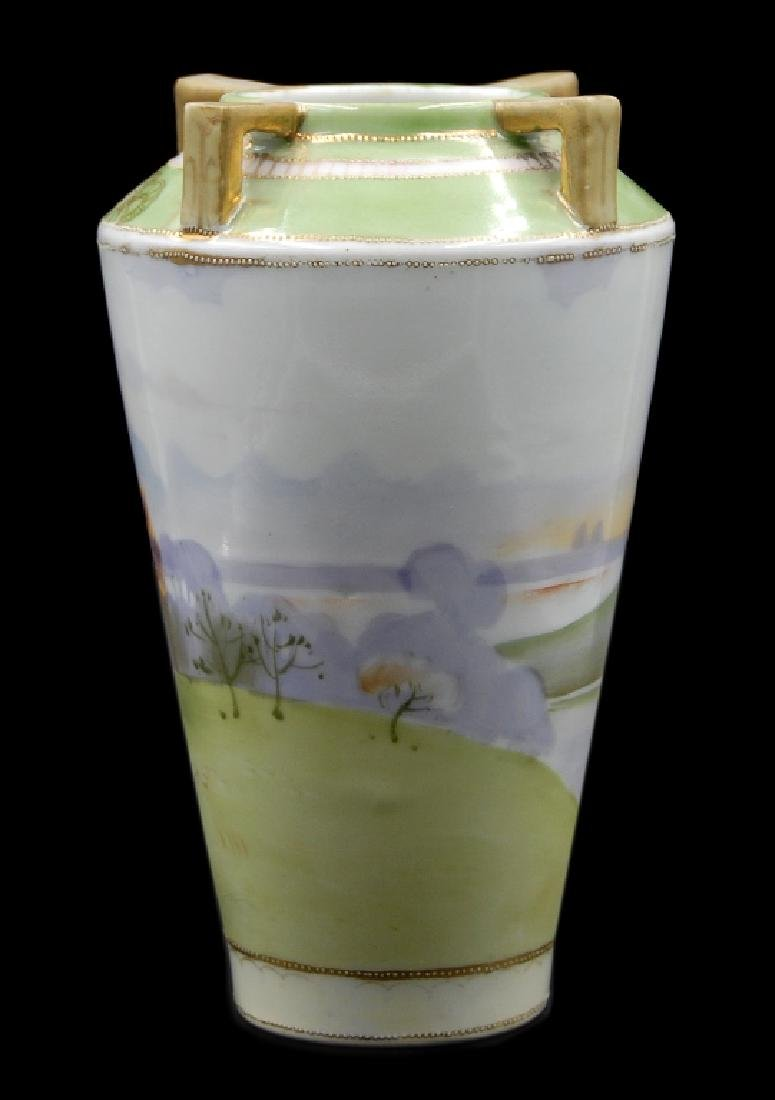 Hand Painted Nippon Scenic Vase - 3