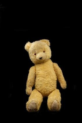 Early Jointed Yellow Mohair Teddy Bear