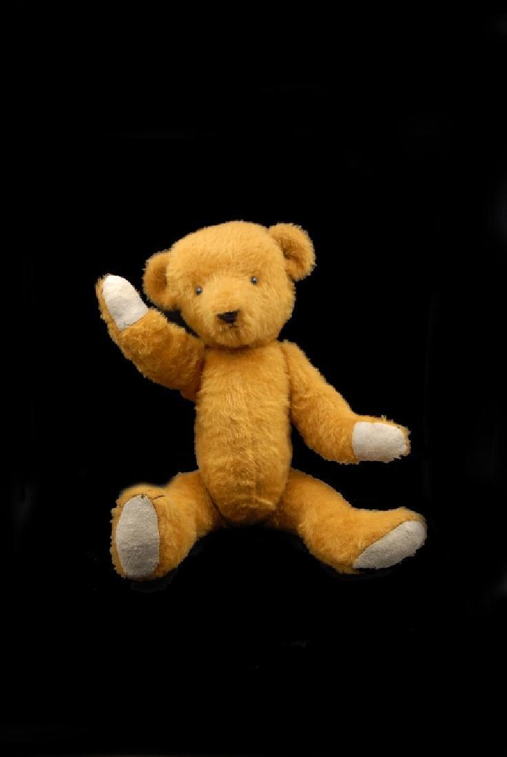 Early Jointed Orange Mohair Teddy Bear