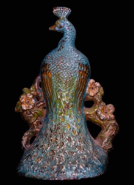 Art Nouveau Cast Iron Peacock Doorstop