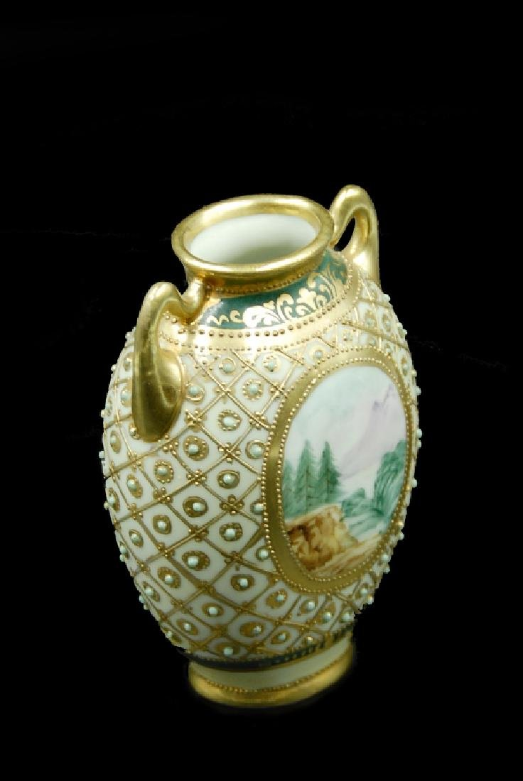 Hand Painted Nippon Vase - 4