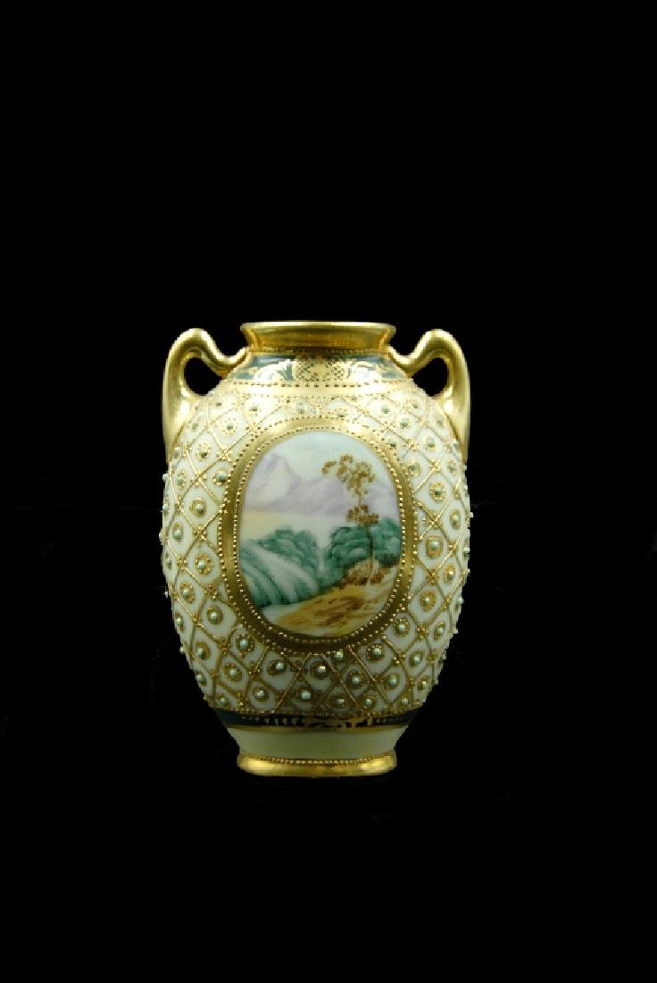 Hand Painted Nippon Vase - 5