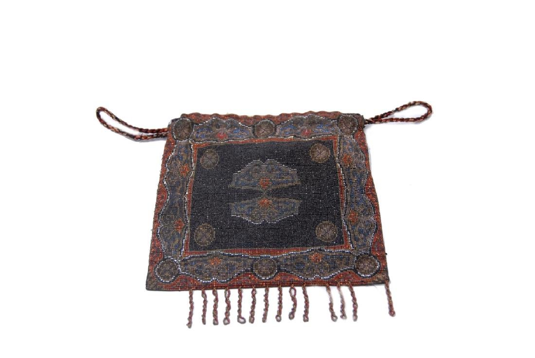 Antique Beaded Drawstring Purse