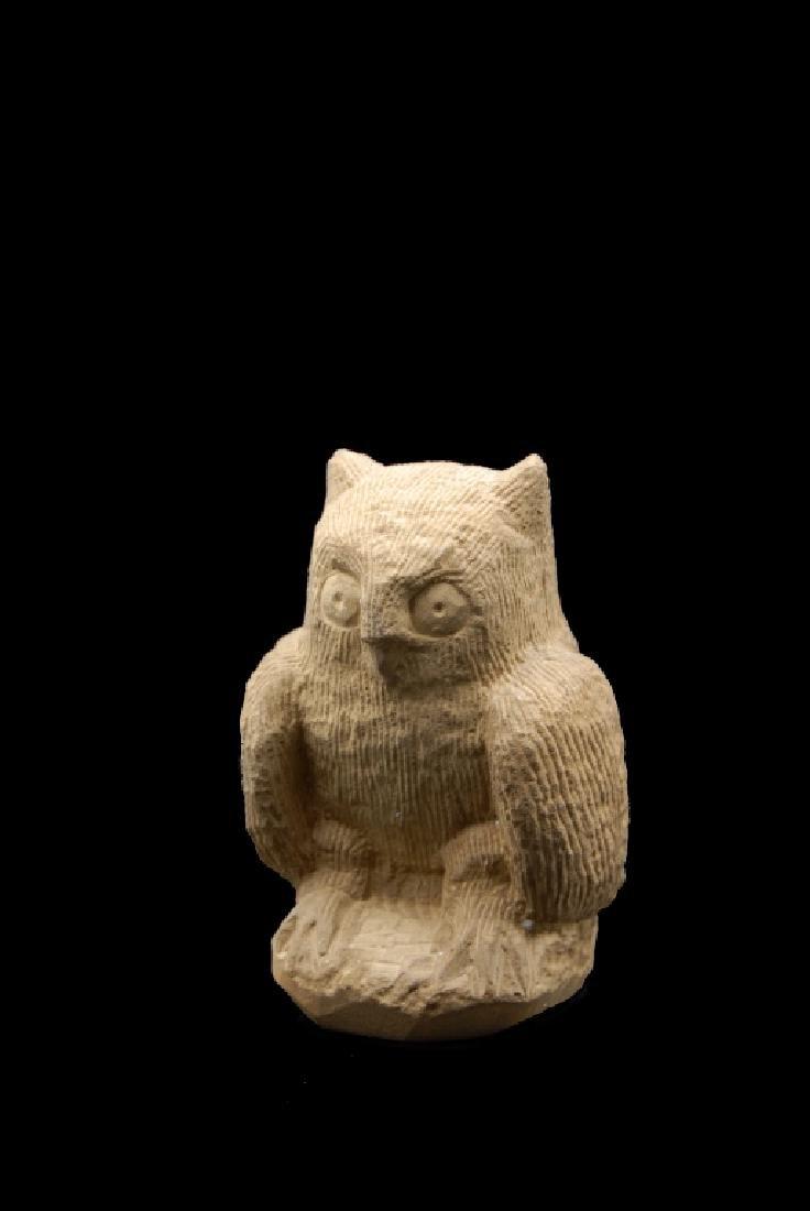 Ernest Popeye Reed Folk Art Owl Sculpture