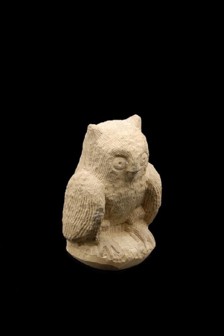 Ernest Popeye Reed Folk Art Owl Sculpture - 3