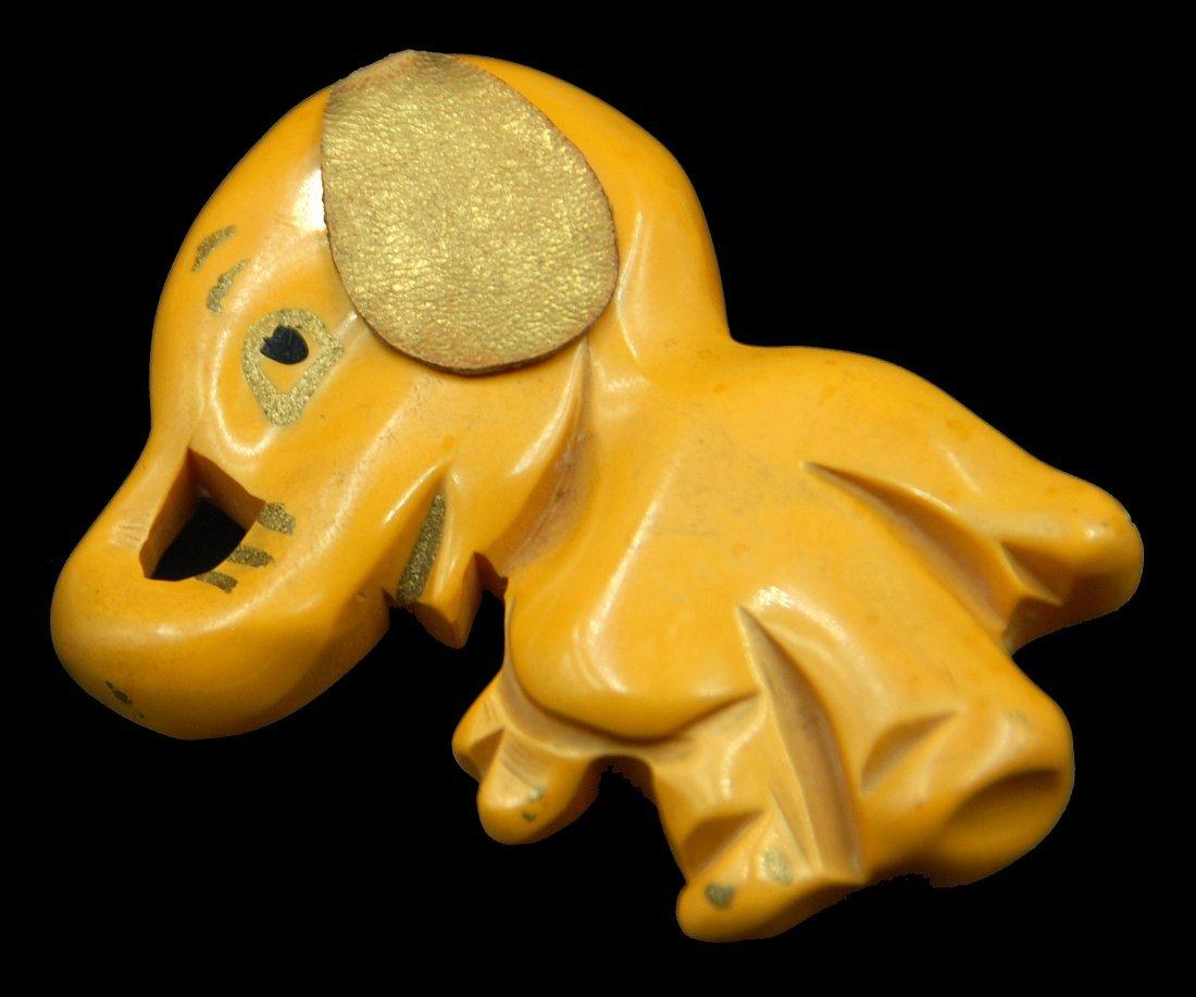 """Bakelite Martha Sleeper """"Baby Elephant"""" Pin - 2"""