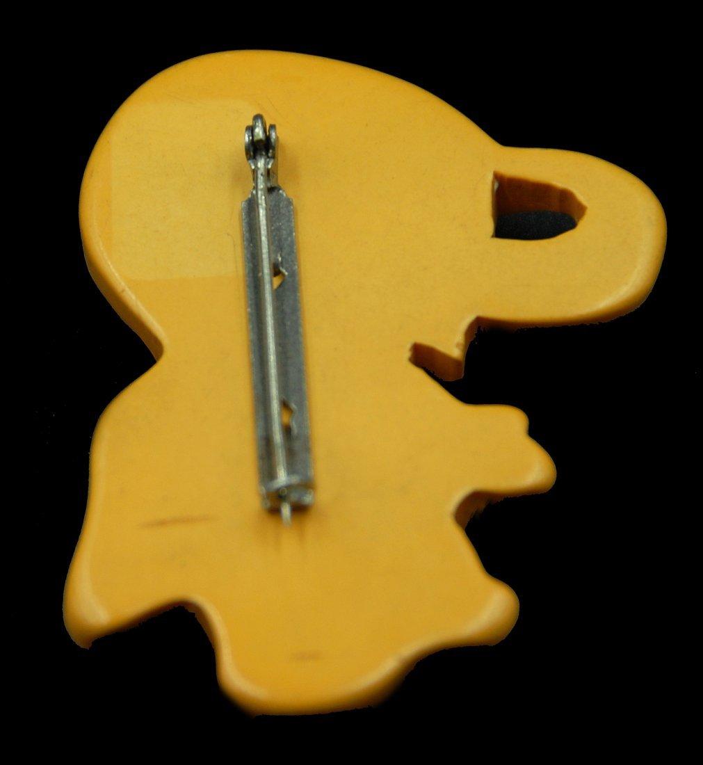 """Bakelite Martha Sleeper """"Baby Elephant"""" Pin - 3"""