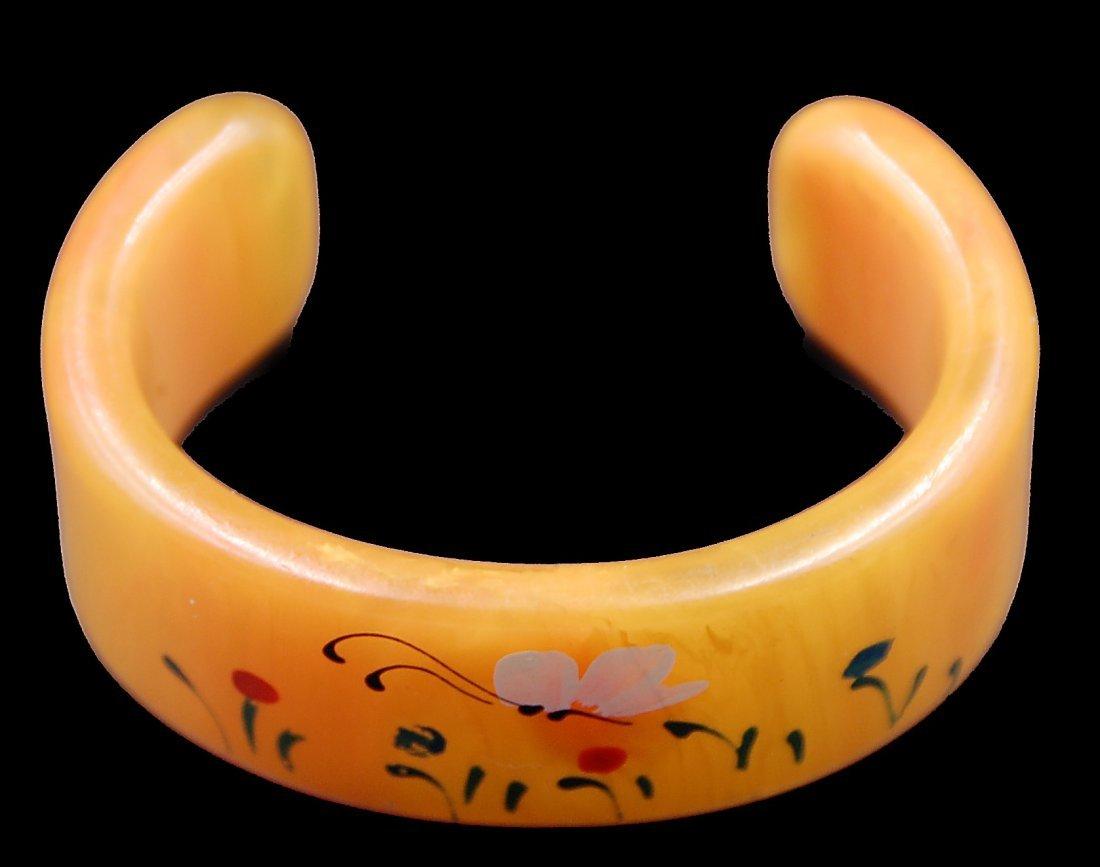 Bakelite Painted Cuff Bracelet - 2