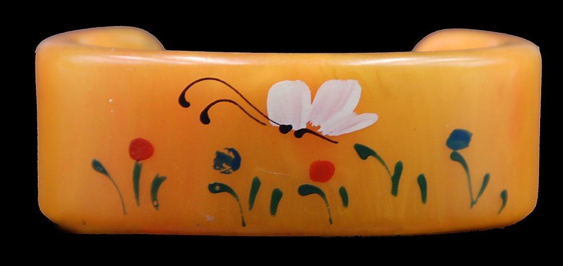 Bakelite Painted Cuff Bracelet - 3