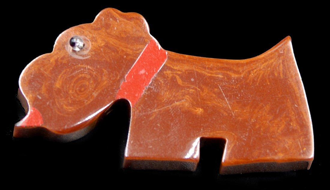 Bakelite Scottie Dog With Glass Eye