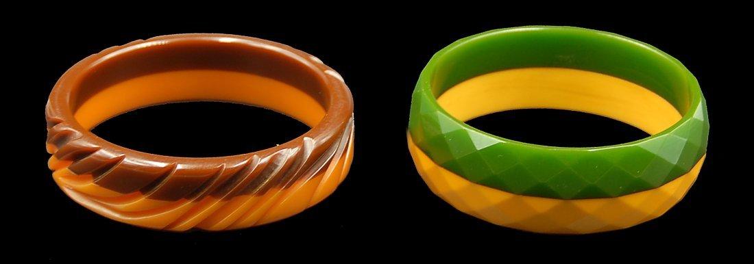 2 Multi Colored Bangle Bracelets