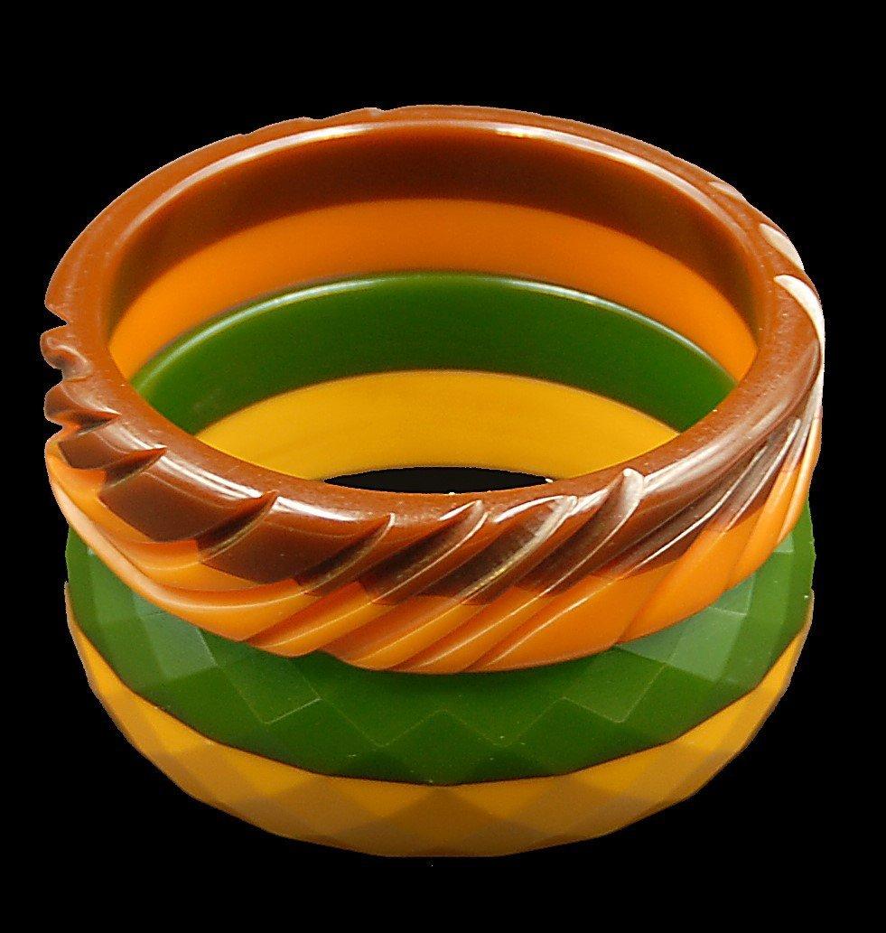 2 Multi Colored Bangle Bracelets - 2