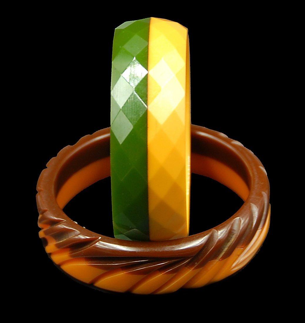 2 Multi Colored Bangle Bracelets - 4