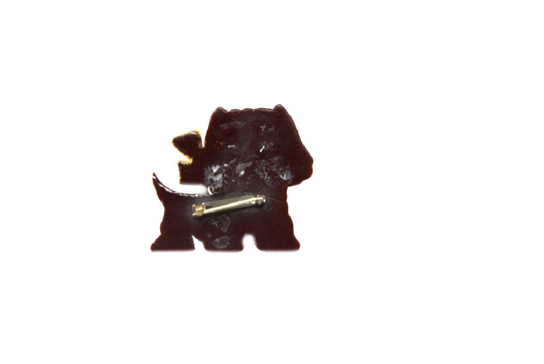 Scottie Dog Pin With Glass Eyes - 4