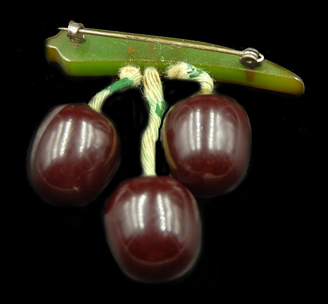 Bakelite Cherry Pin W/ Drops - 2