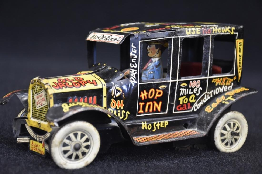 Louis Marx Old Jalopy Toy Tin Windup Car - 3