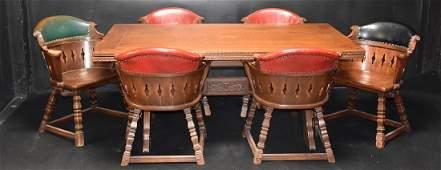 7 Pc. Romweber Viking Oak Refractory Dining Set