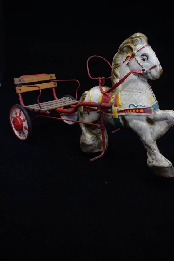 1950'S Childs Horse And Buggy Pedal Car - 3