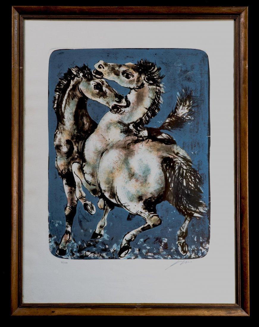 Hans Erni Signed Surrealism Modern Art Lithograph