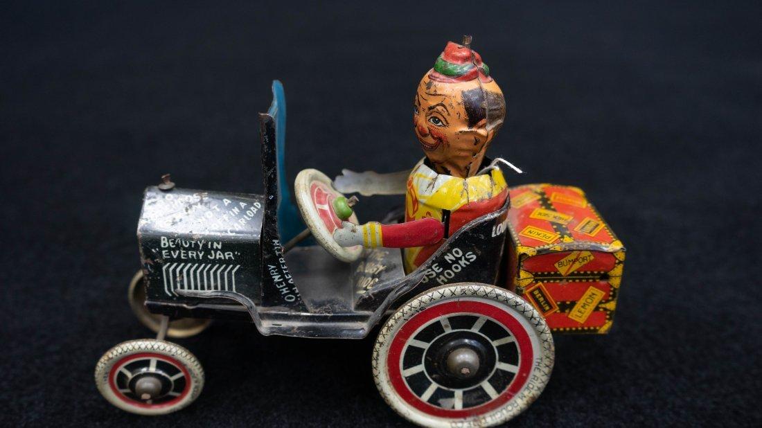 Vintage Marx Rough Rider Tin Wind Up Toy Car
