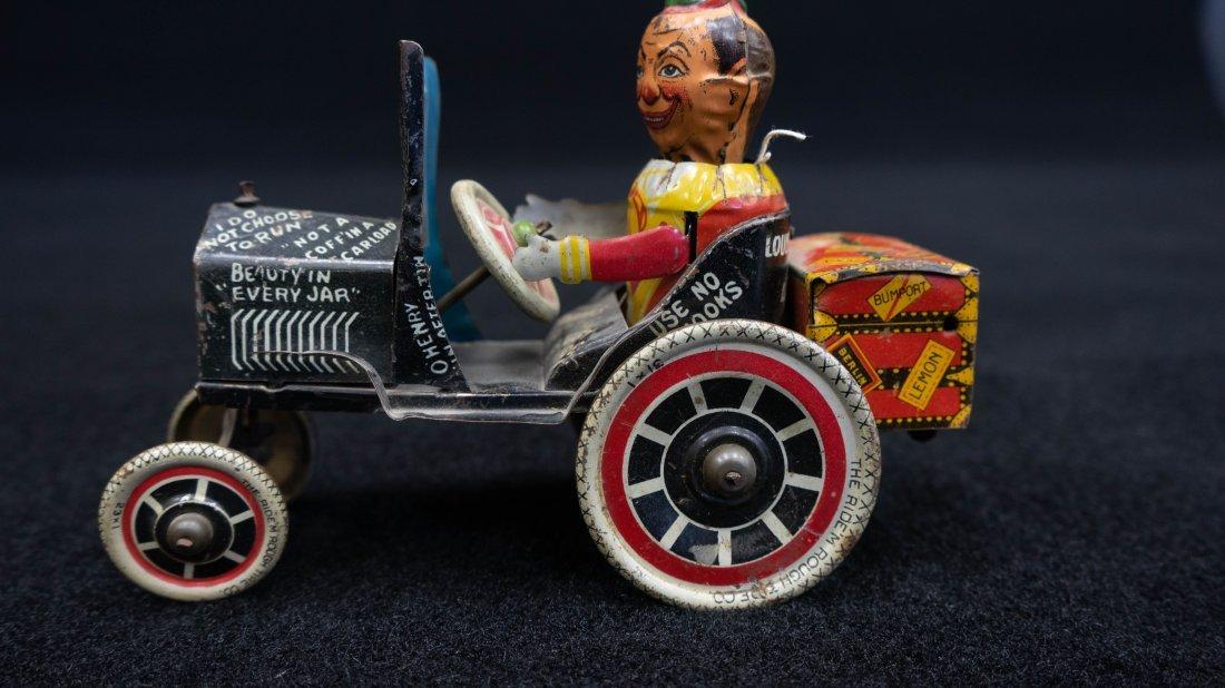 Vintage Marx Rough Rider Tin Wind Up Toy Car - 2