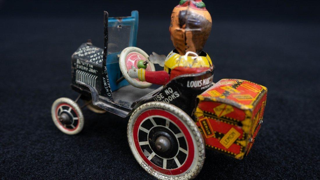 Vintage Marx Rough Rider Tin Wind Up Toy Car - 3
